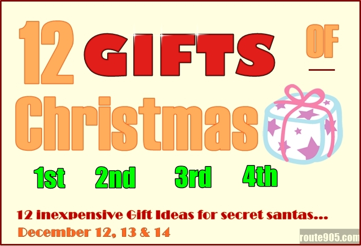 Inexpensive gift ideas for the 12 days of christmas